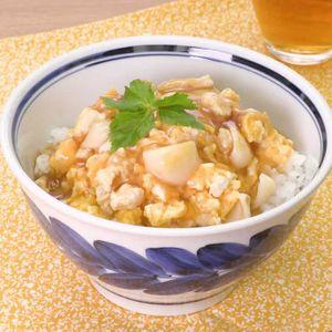 「ゆりねのそぼろ卵とじあんかけ丼」のレシピ動画