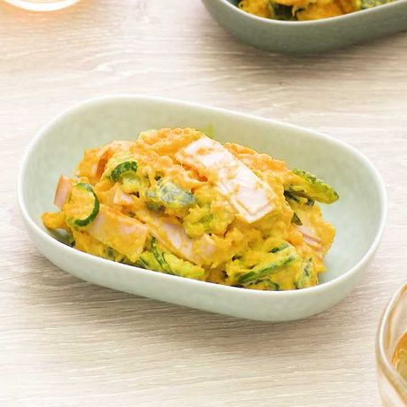 レンジで簡単に かぼちゃときゅうりのサラダのレシピ動画 作り方 Delish Kitchen