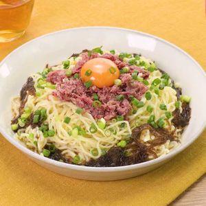 「コンビーフのさっぱり和え麺」のレシピ動画