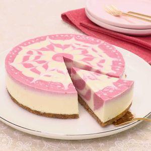 「紅白チーズケーキ」のレシピ動画