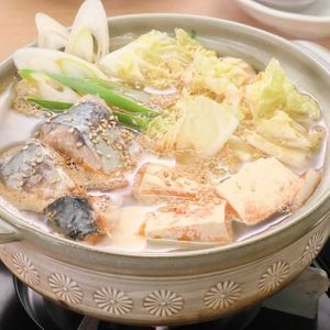 「白菜とねぎのサバ缶鍋」のレシピ動画