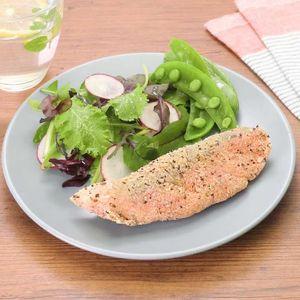 「鮭のバジルチーズフライ」のレシピ動画