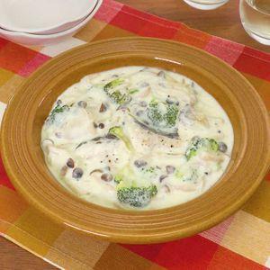 「たらとブロッコリーのクリーム煮」のレシピ動画