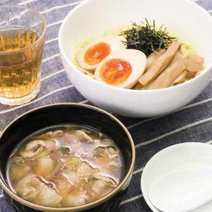 「豚バラつけ麺」のレシピ動画