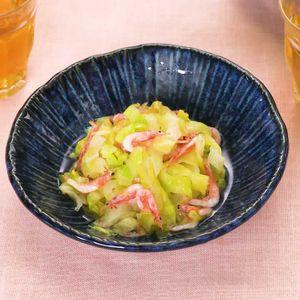 「桜海老とキャベツの煮浸し」のレシピ動画