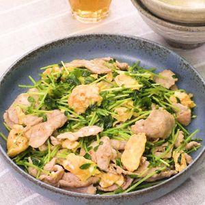 豆 レシピ 苗 こま 豚
