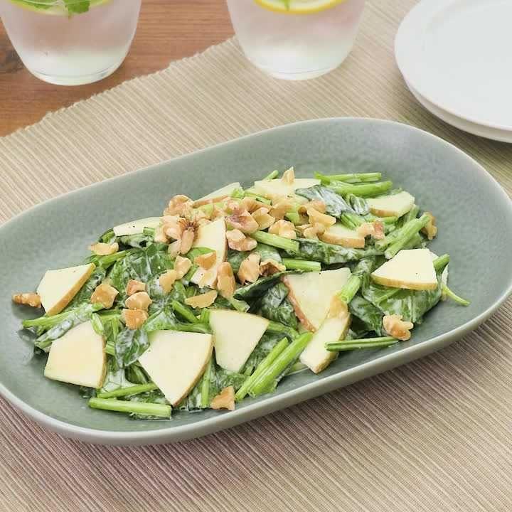 サラダ ほうれん草 レシピ