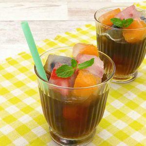 「フルーツ入り氷コーヒー」のレシピ動画
