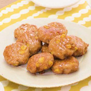 「鶏ひき肉とコーンのバター醤油つくね」のレシピ動画