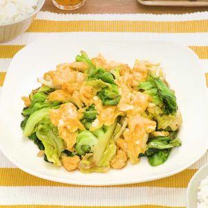 「春キャベツと卵の中華炒め」のレシピ動画