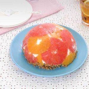 「柑橘のアイスドームケーキ」のレシピ動画