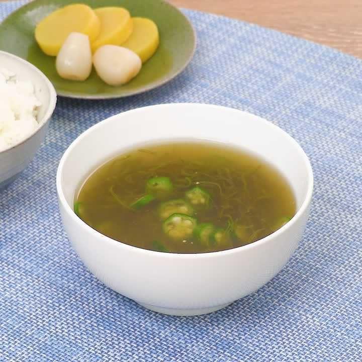 あっという間に完成! めかぶとオクラの冷製スープ