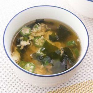 「オクラとわかめのかきたまスープ」のレシピ動画