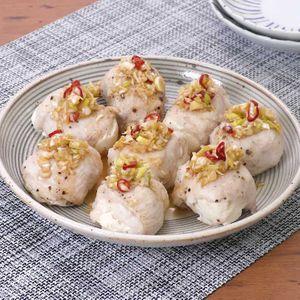 「肉巻き豆腐の香味だれがけ」のレシピ動画