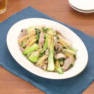 「豚ヒレ肉とチンゲン菜の中華炒め」のレシピ動画
