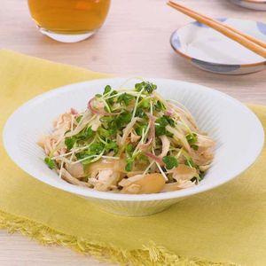 「ささみと新生姜のさっぱりサラダ」のレシピ動画