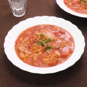 「豚ヒレと白菜のトマトクリーム煮」のレシピ動画