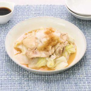 「鶏肉と白菜の酒蒸しおろしポン酢がけ」のレシピ動画