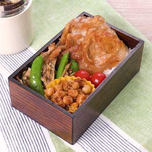 「お手軽豚の生姜焼き弁当」のレシピ動画