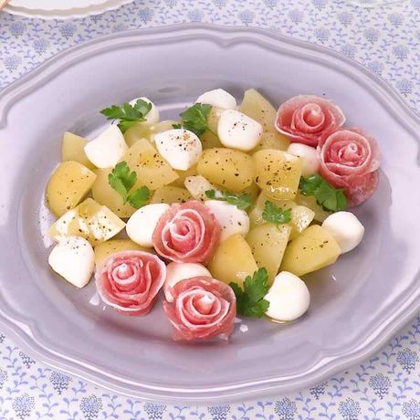 桃 モッツァレラ レシピ