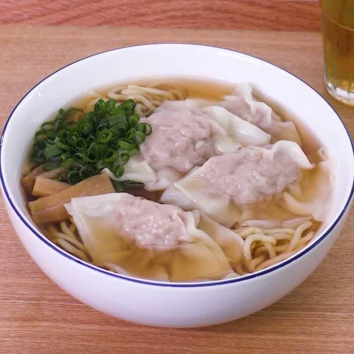 つるっとおいしい♪ ワンタン麺のレシピ動画・作り方 | DELISH KITCHEN