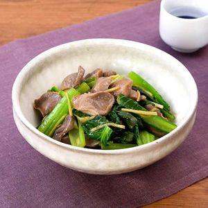 「小松菜とゆで砂肝のゆず胡椒和え」のレシピ動画