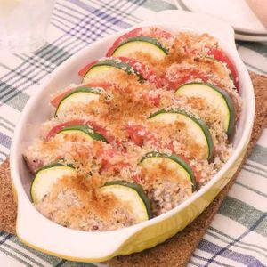 「豚ヒレ肉とトマトのマスタードパン粉焼き」のレシピ動画