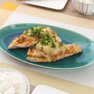「鶏肉のキムチ納豆チーズ焼き」のレシピ動画