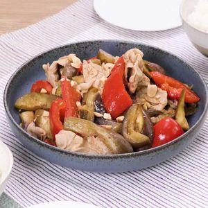 「豚となすの中華蒸し」のレシピ動画