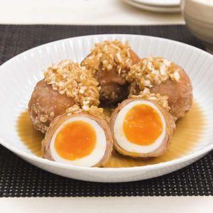 「半熟ゆで卵の油淋鶏風唐揚げ」のレシピ動画