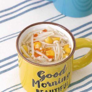 「コーンとえのきの中華スープ」のレシピ動画