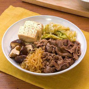 「牛肉とキャベツのすき焼き風」のレシピ動画