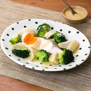 「タラと里芋のみそだれレンジ蒸し」のレシピ動画