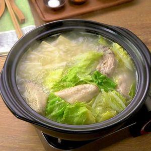 「手羽先の水炊き鍋」のレシピ動画