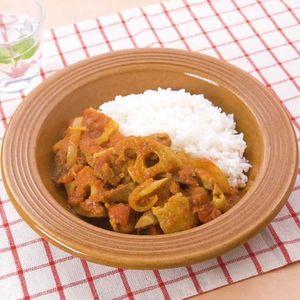 「鶏肉と根菜のスパイシーカレー」のレシピ動画