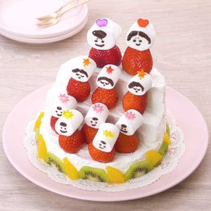 「ひな壇ケーキ」のレシピ動画
