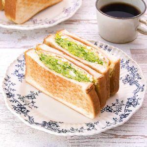 「キャベツとたまごのサンドイッチ」のレシピ動画