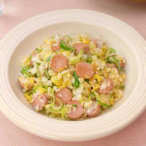 「魚肉ソーセージのねぎみそチャーハン」のレシピ動画