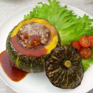 「豪快!かぼちゃの肉詰め」のレシピ動画