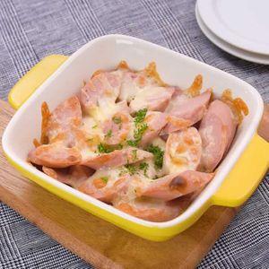 「魚肉ソーセージのチーズ焼き」のレシピ動画