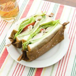 「サラダチキンのサンドイッチ」のレシピ動画
