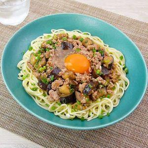 「なす肉味噌のジャージャー麺風」のレシピ動画