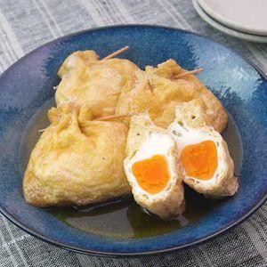「油揚げと卵の袋煮」のレシピ動画